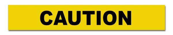 BTC710a CAUTION Black on Yellow Tape