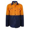 WSK127 Kids Lightweight Two Tone Long Sleeve Cotton Drill NO1