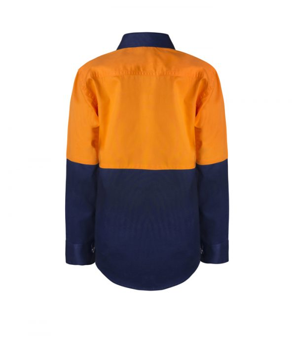 WSK127 Kids Lightweight Two Tone Long Sleeve Cotton Drill NO2