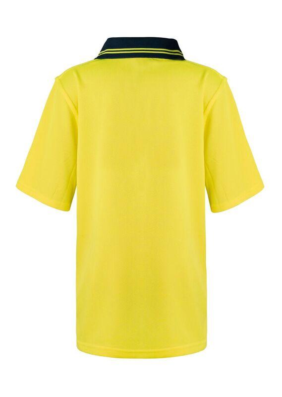 WSPK20 Kids Two Tone Short Sleeve Micromesh Polo With Pocket NY2