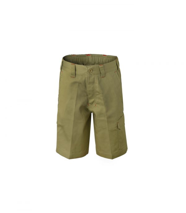 WPK502 Kids Midweight Cargo Cotton Drill Shorts K1