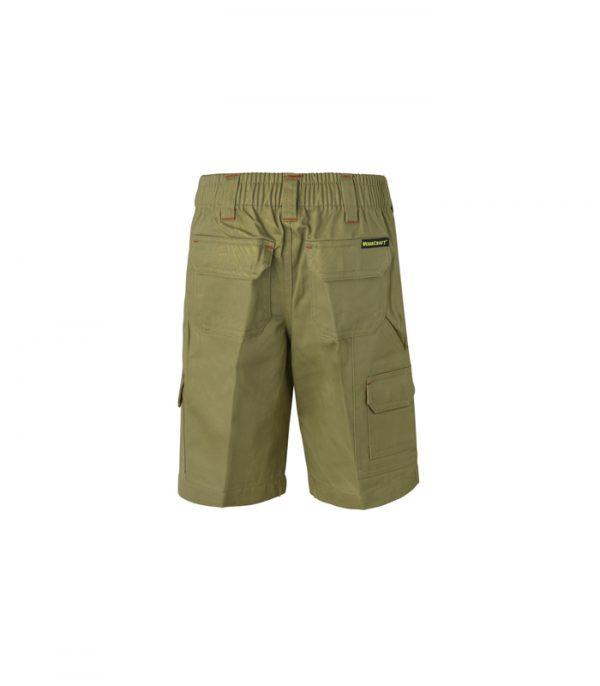 WPK502 Kids Midweight Cargo Cotton Drill Shorts K2