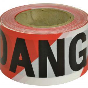 BTD711 DANGER Black on Red:White Tape