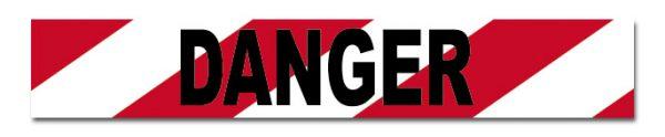 BTD711a DANGER Black on Red:White Tape