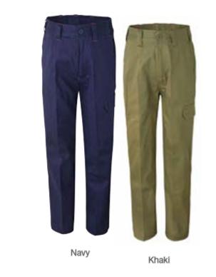 WPK503 Kids Midweight Cargo Cotton Drill Trouser