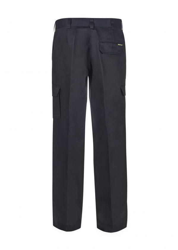 WPL070 Ladies Mid Weight Cargo Cotton Drill Trouser BLK2