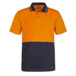 WSP401 HI VIS TWO TONE SHORT SLEEVE COTTON BACK POLO WITH POCKET NO1