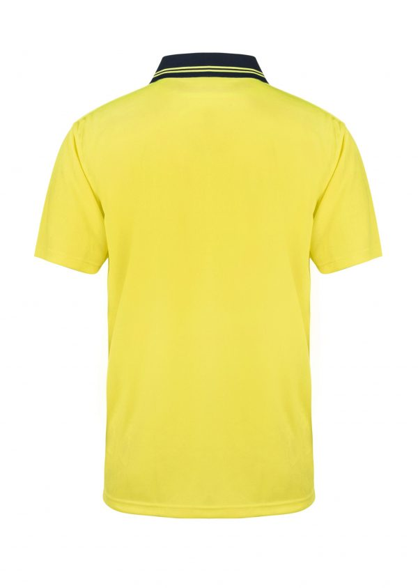 WSP201 HI VIS TWO TONE SHORT SLEEVE MICROMESH POLO WITH POCKET NY2
