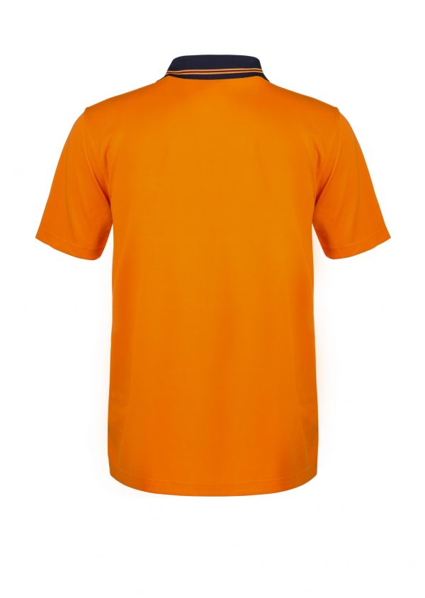 WSP201 HI VIS TWO TONE SHORT SLEEVE MICROMESH POLO WITH POCKET NO2