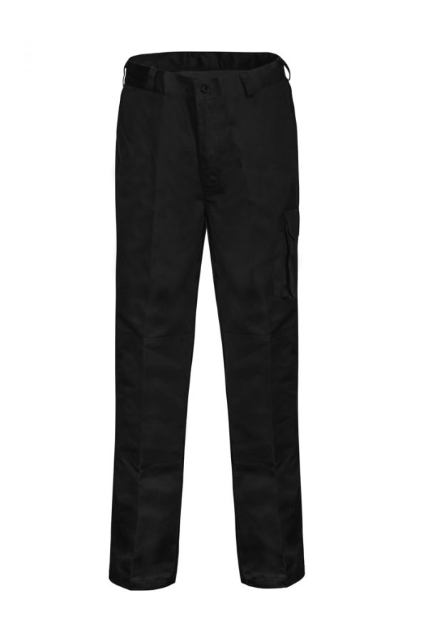 WP3060 Mid-weight Cargo Cotton Drill Trouser BLK1