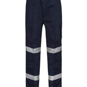 WP3065 Mid-weight Cargo Cotton Drill Trouser with CSR Reflective Tape NVY1