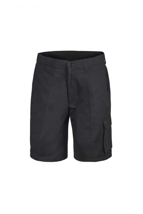 WP3046_ Cargo Cotton Drill Shorts BLK1