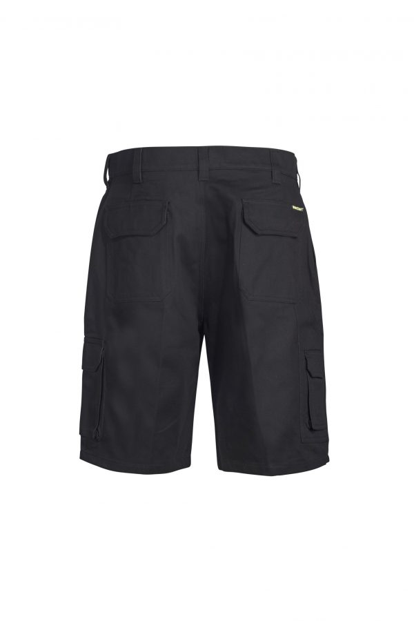 WP3046_ Cargo Cotton Drill Shorts BLK2