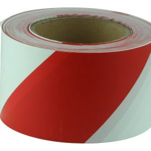 BTR713 Red and White Barricade Tape