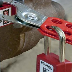 Vinyl Coated Hasp 25mm - In Use