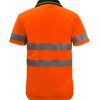 WSP410 Hi Vis Two Tone Short Sleeve Micromesh Polo with Pocket and CSR Reflective Tape NO2