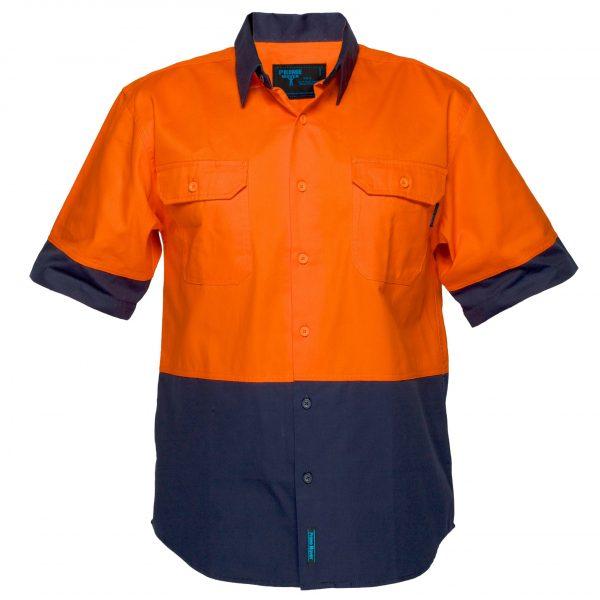 MS902 - Hi-Vis Two Tone Regular Weight Short Sleeve Shirt O1