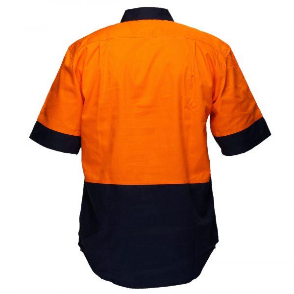 MS902 - Hi-Vis Two Tone Regular Weight Short Sleeve Shirt O2