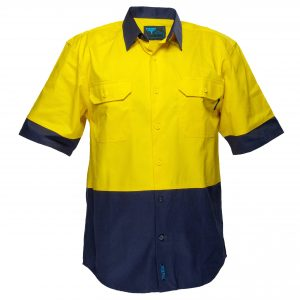 MS902 - Hi-Vis Two Tone Regular Weight Short Sleeve Shirt Y1
