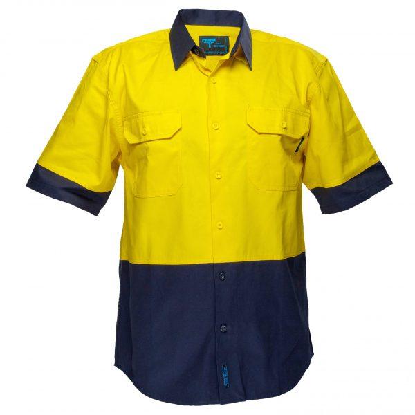 MS902 - Hi-Vis Two Tone Regular Weight Short Sleeve Shirt Y1