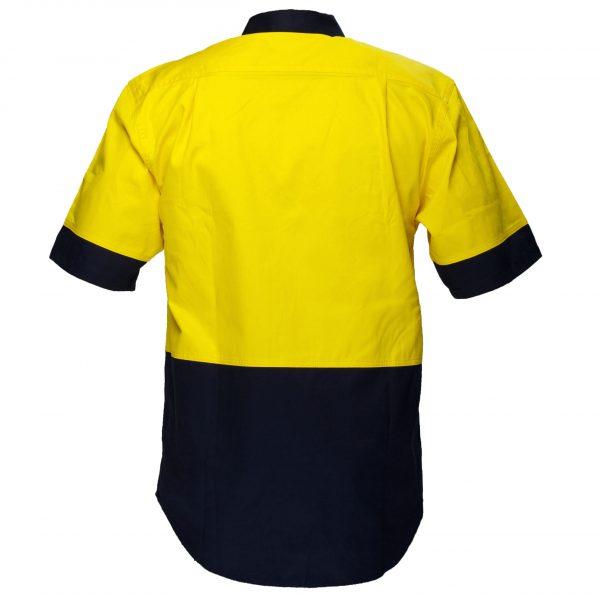 MS902 - Hi-Vis Two Tone Regular Weight Short Sleeve Shirt Y2