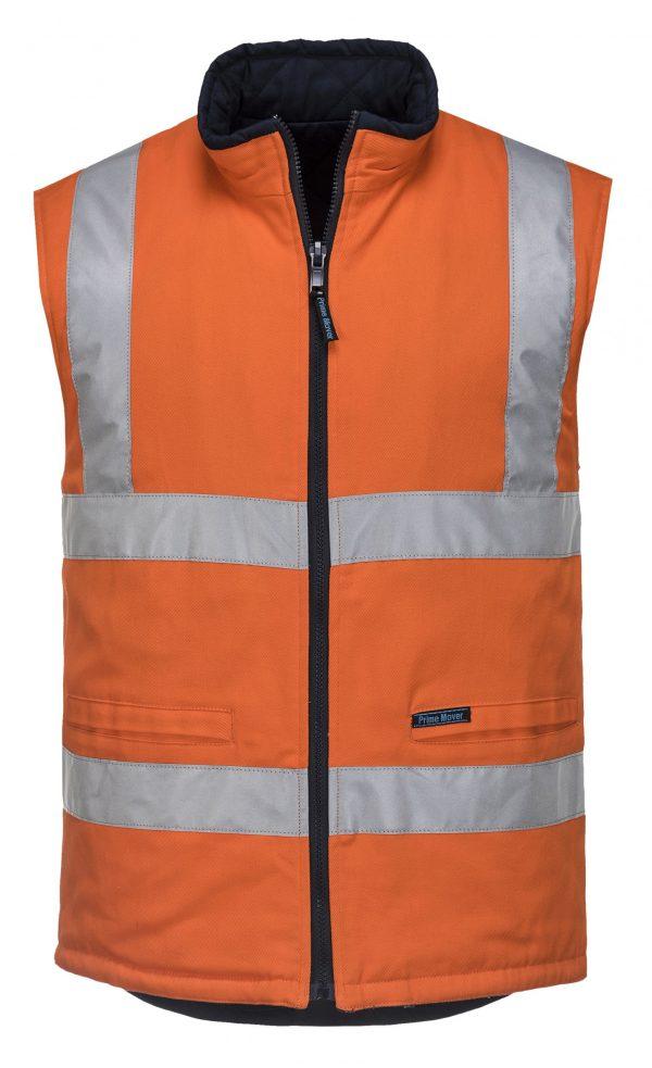 MV278 - 100% Cotton Reversible Vest O1