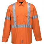 MX301 - 100% Lightweight Cotton Long Sleeve Shirt with Cross Back Tape 1