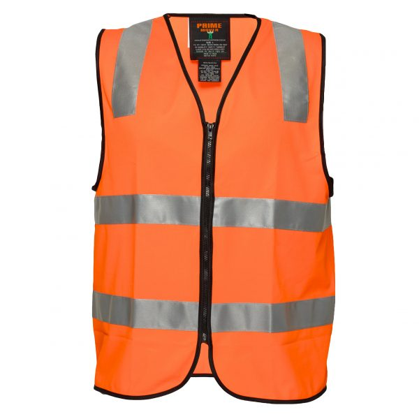 MZ102 Day/Night Safety Vest with Tape with Zip O1