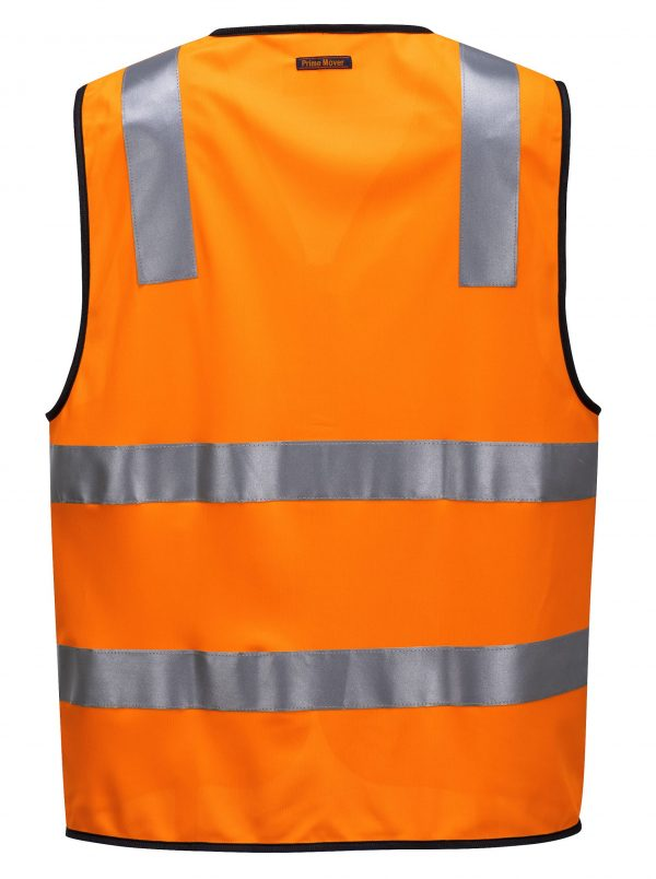 MZ102 Day/Night Safety Vest with Tape with Zip O2