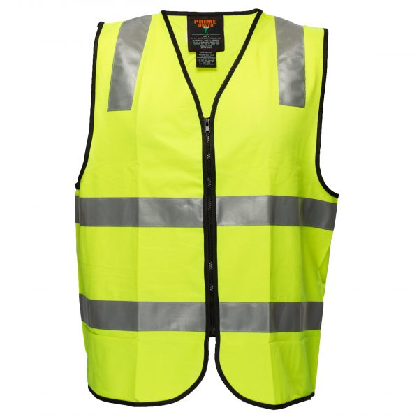 MZ102 Day/Night Safety Vest with Tape with Zip Y1