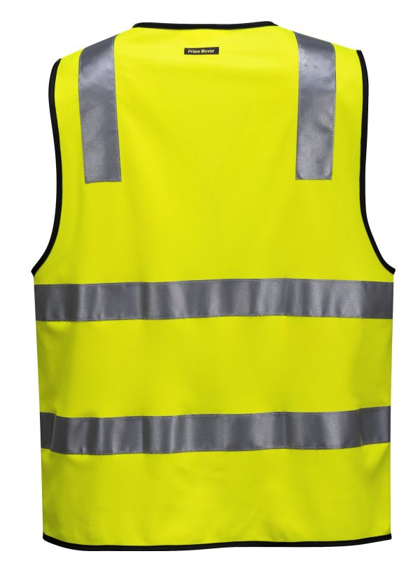 MZ102 Day/Night Safety Vest with Tape with Zip Y2