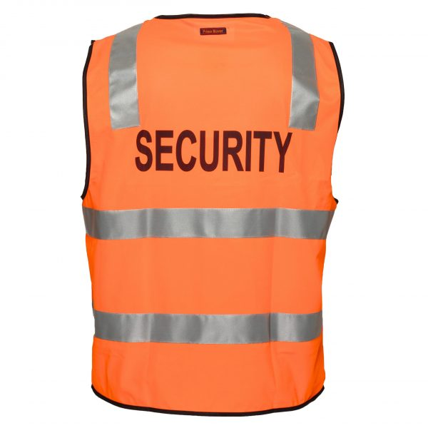 MZ108 - Day/Night Safety Vest with Tape - SECURITY O2
