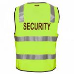 MZ108 - Day/Night Safety Vest with Tape - SECURITY Y