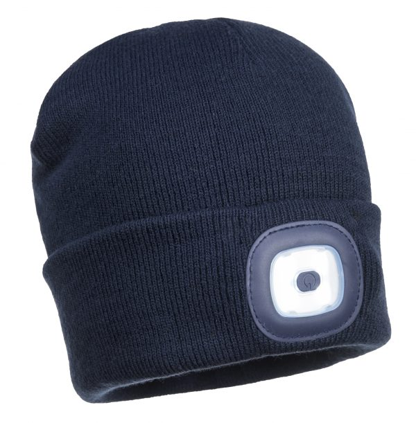 B029 Beanie LED Head Light USB Rechargeable NVY On