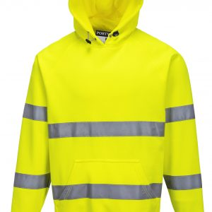 B304 - Brush Fleece Hoodie with Tape - Portwest YEL1