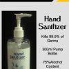 Hand Sanitiser 300ml 75% Alcohol 1