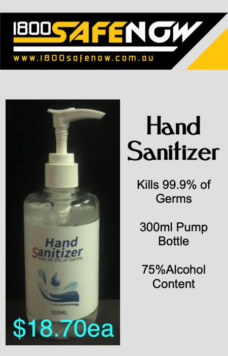 Hand Sanitiser 300ml 75% Alcohol 3