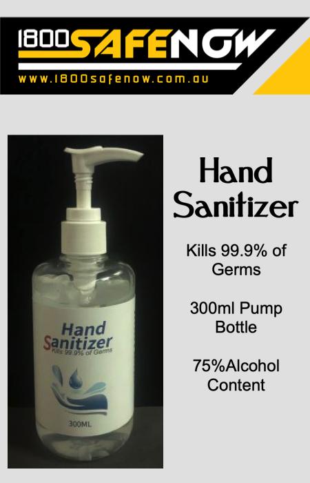 Hand Sanitiser 300ml 75% Alcohol