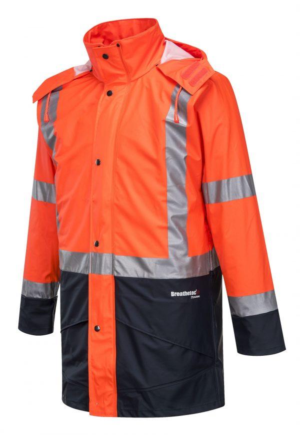 K8104 Farmers Hi-Vis Waterproof Jacket ORG1