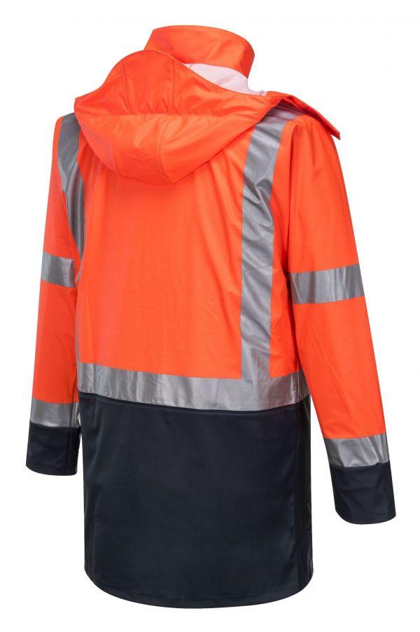 K8104 Farmers Hi-Vis Waterproof Jacket ORG2