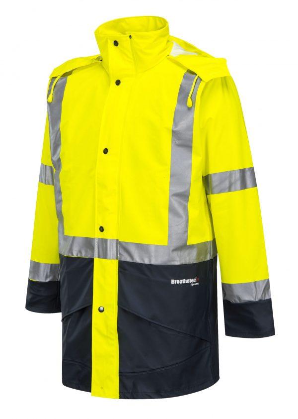 K8104 Farmers Hi-Vis Waterproof Jacket YEL1