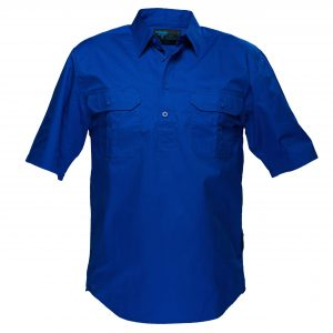 MC905 - Adelaide Shirt, Cotton Short Sleeve, Light Weight Cobalt