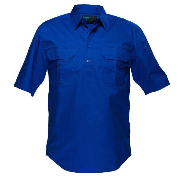MC905 - Adelaide Shirt, Cotton Short Sleeve, Light Weight Cobalt