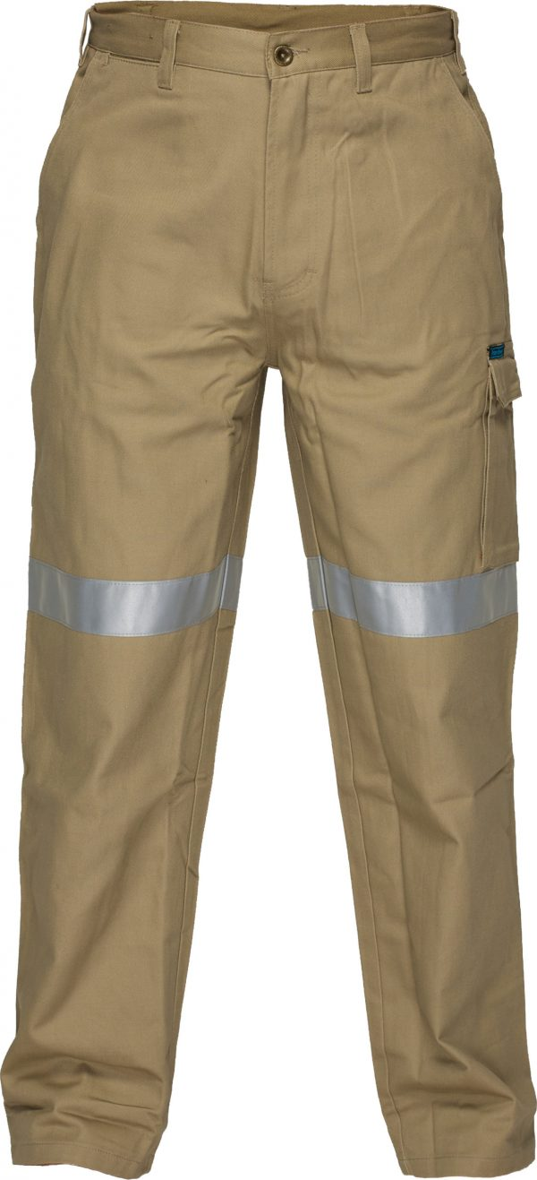 MP701 - Cotton Cargo Pants with Tape - Prime Mover KHA