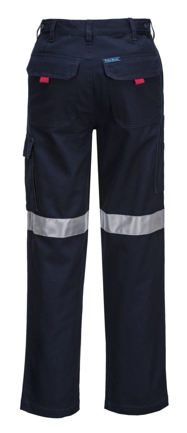 MP701 - Cotton Cargo Pants with Tape - Prime Mover NVY2