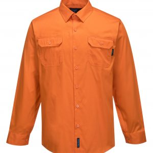 MS3021- Hi-Vis Cotton Lightweight Long Sleeve Shirt O1