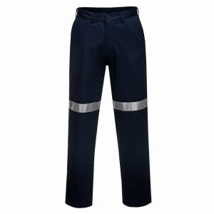MW705 - Straight Leg Cotton Drill Pants with Tape - Prime Mover