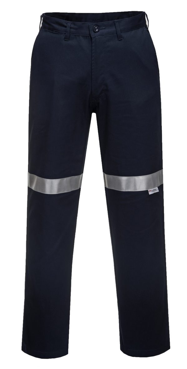 MW705 - Straight Leg Cotton Drill Pants with Tape - Prime Mover NVY