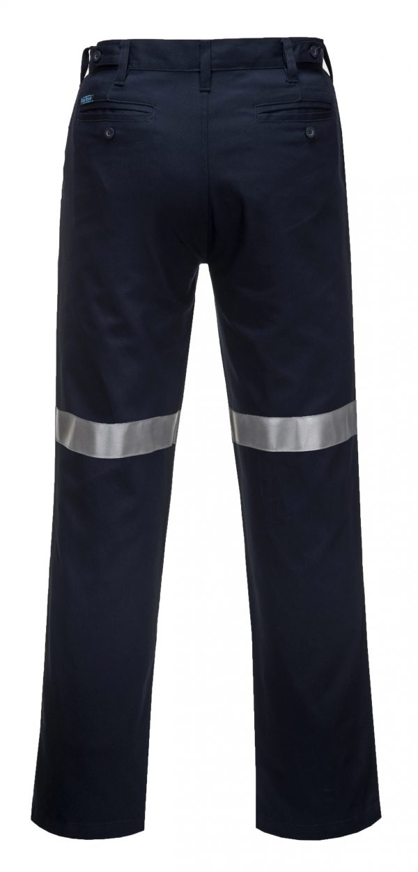 MW705 - Straight Leg Cotton Drill Pants with Tape - Prime Mover NVY2