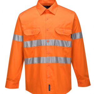 MA301 - Hi-Vis Lightweight Long Sleeve Shirt with Tape - Prime Mover ORG1